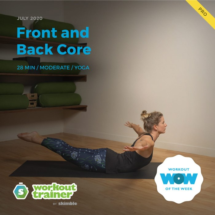Workout Trainer by Skimble: Pro Workout of the Week: Front and Back Core