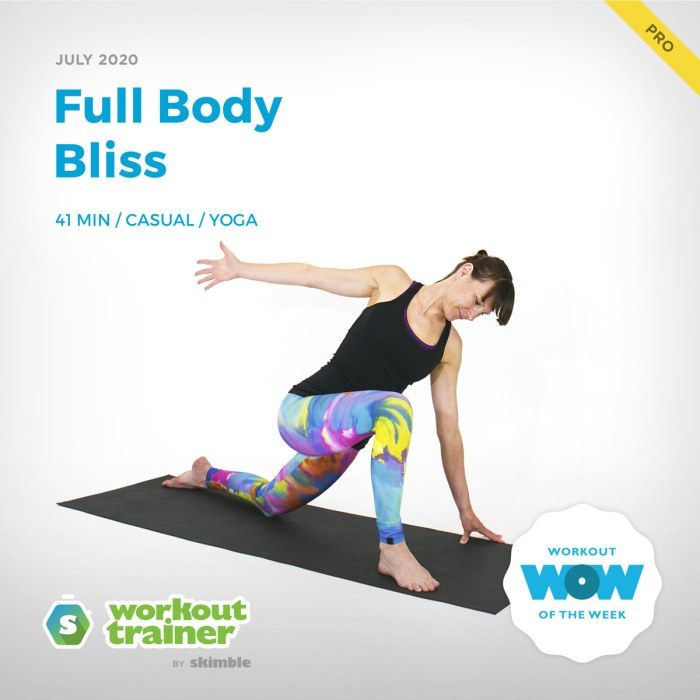 Workout Trainer by Skimble: Pro Workout of the Week: Full Body Bliss