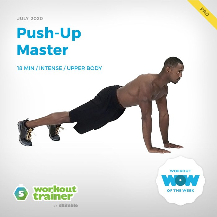 Workout Trainer by Skimble: Pro Workout of the Week: Push-Up Master