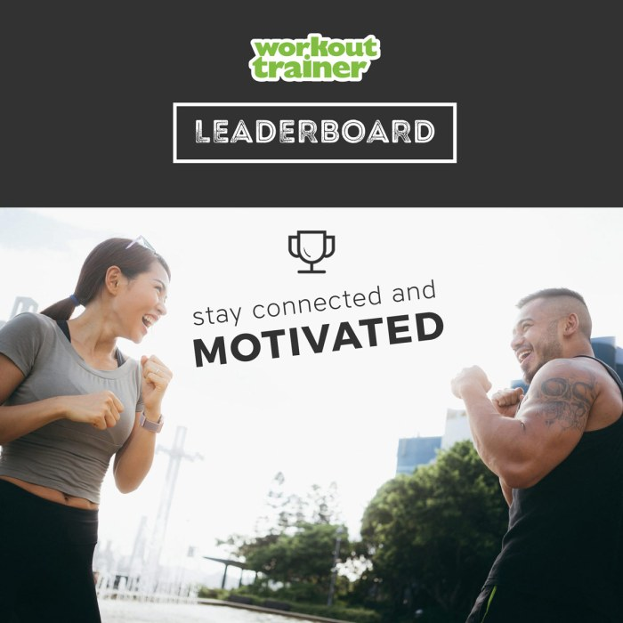Two friends competing on the Workout Trainer Leaderboard