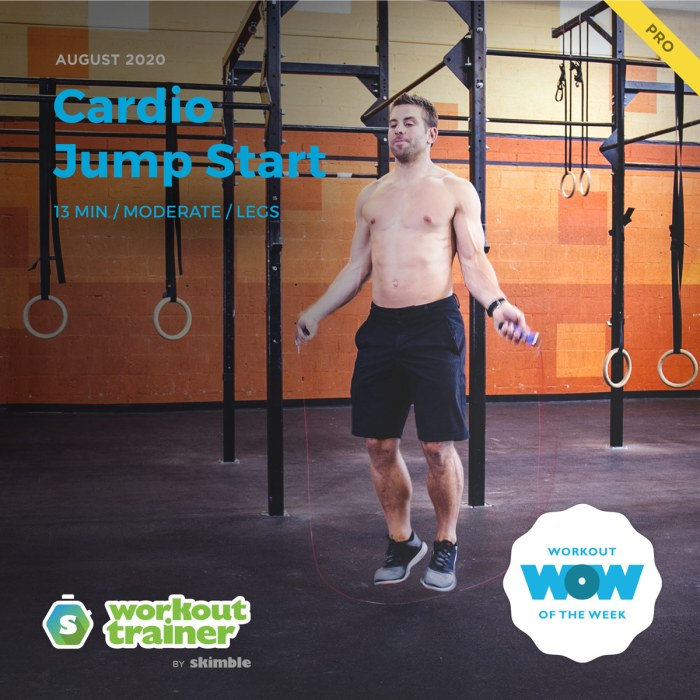 Male Trainer performing Backwards Jump Rope exercise