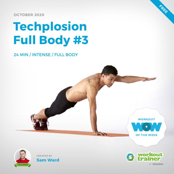 Male Trainer demonstrating Plank with Arm Lifts on yoga mat