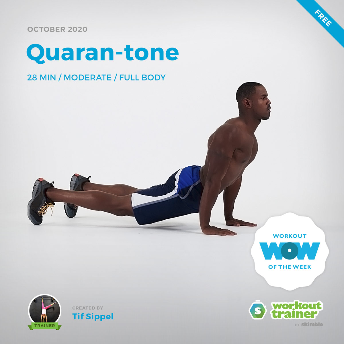 Male Trainer showing us how to do Down Unders exercise
