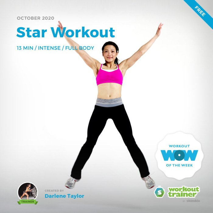 Female Fitness Trainer doing Star Jumps in active wear