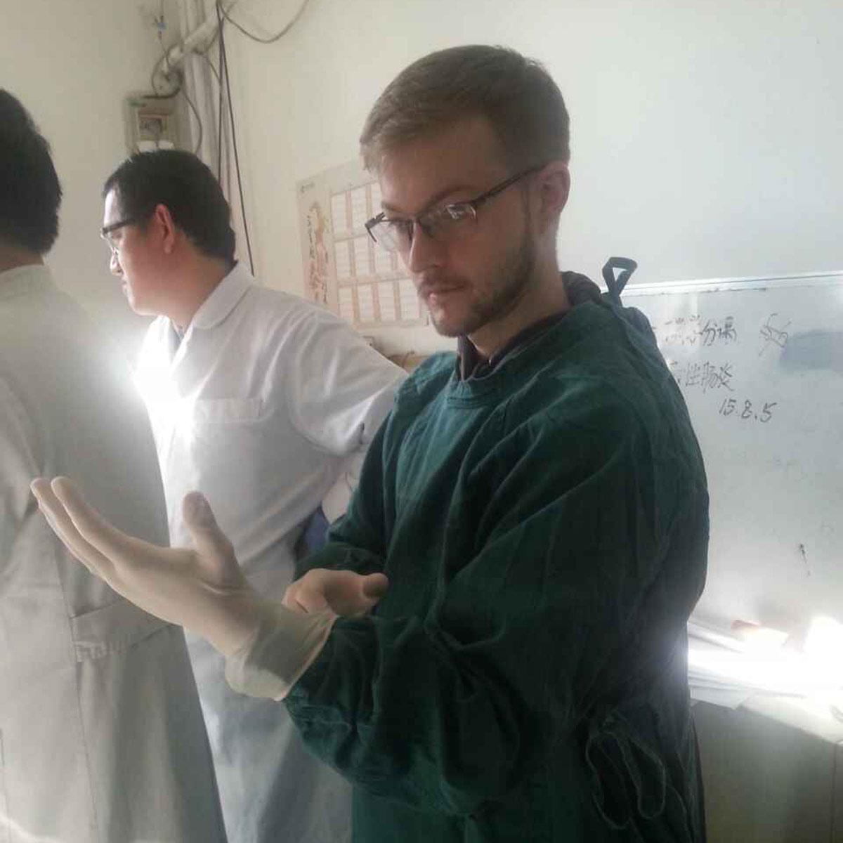 John Alsobrooks studying Chinese Medicine at the University of Beijing