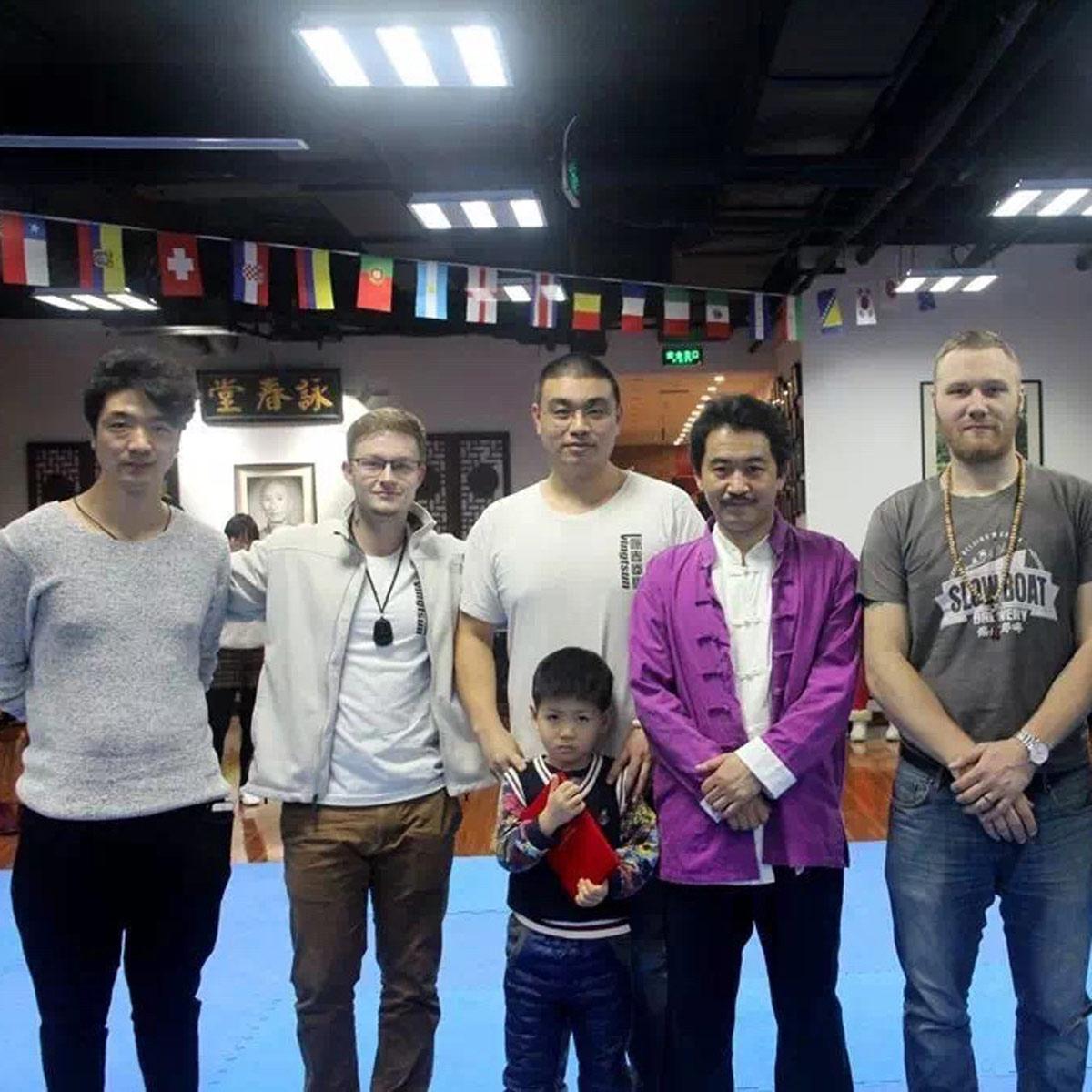John Alsobrooks with his Martial Arts Master Wang Zhi Peng