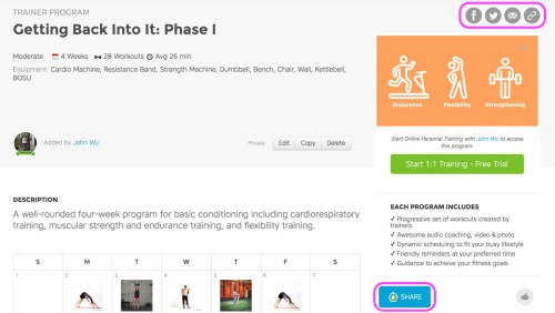 Workout Trainer by Skimble: How to Create Programs on the Web
