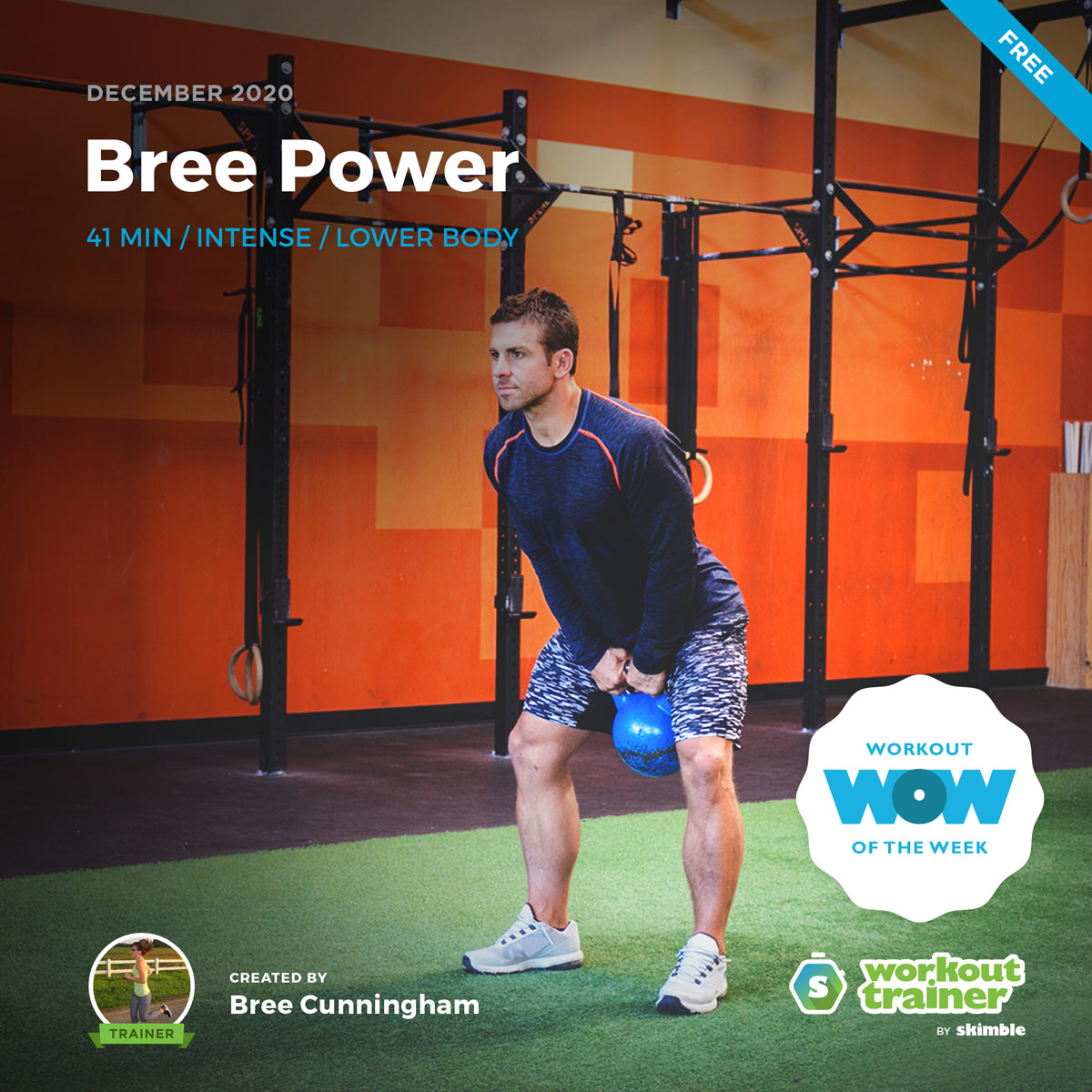 Male Personal Trainer performing good form for Kettlebell Swings