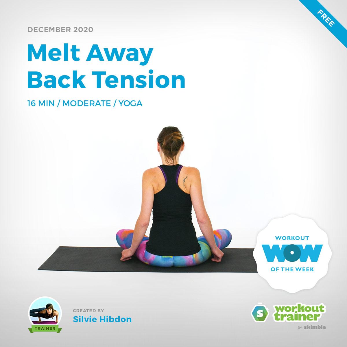 Female Yoga Instructor doing Yoga Shoulder Shrugs on Yoga Mat