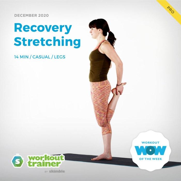 Female Yoga Instructor doing Quad Stretches on Yoga Mat