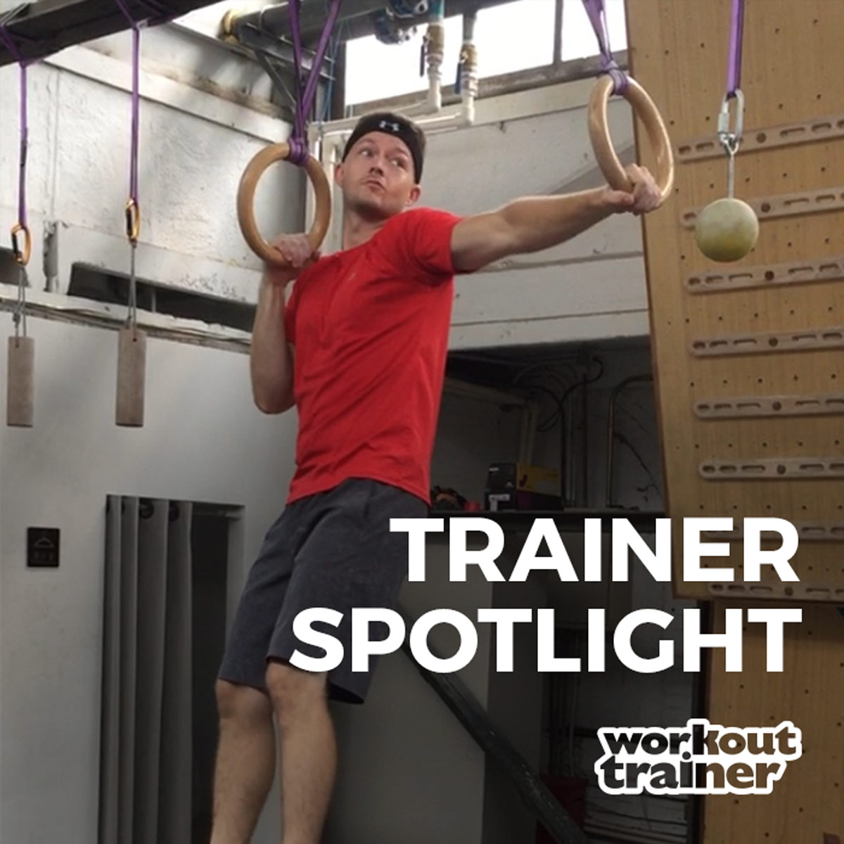 Trainer John Alsobrooks training with suspension rings at the gym