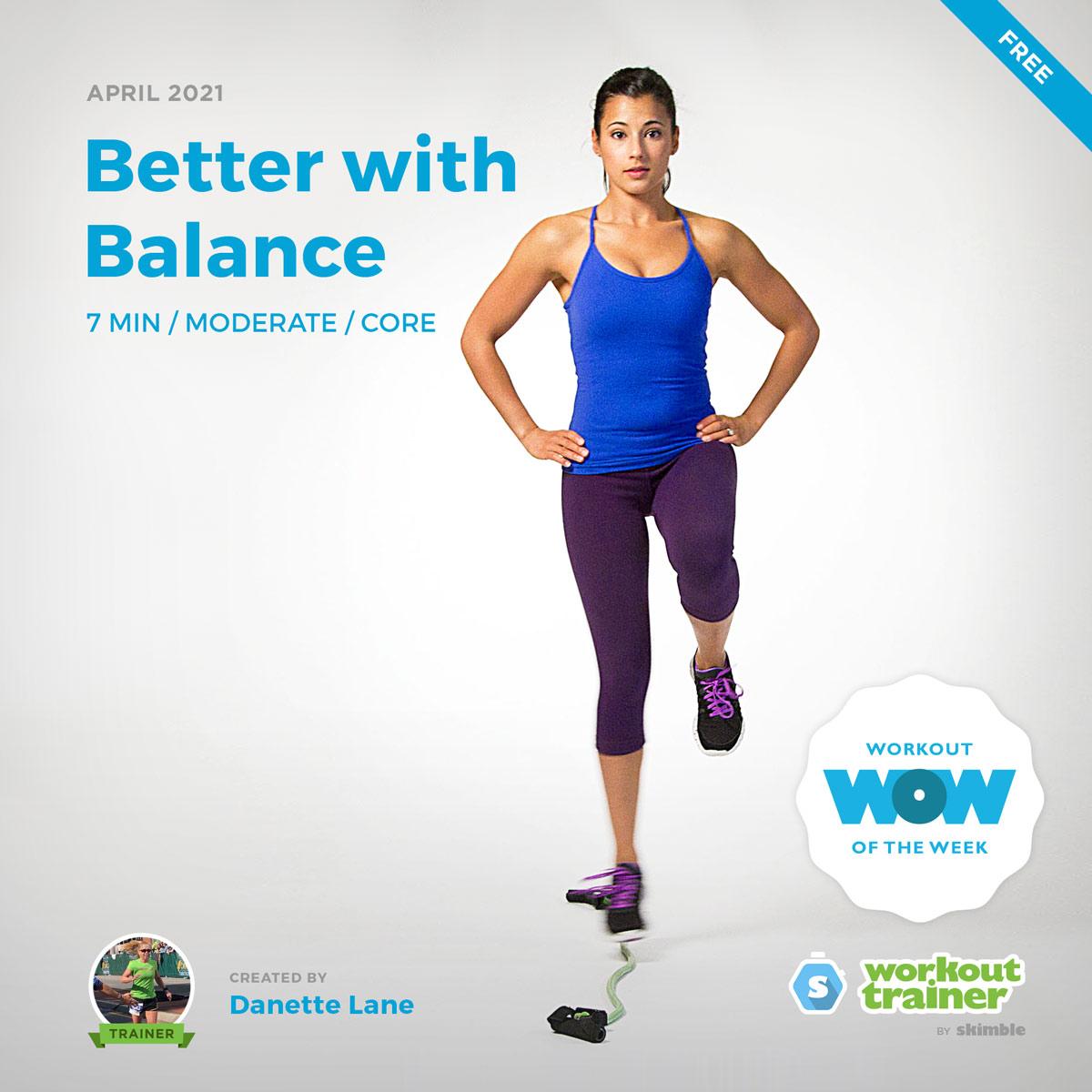 Female Fitness Instructor guiding us through some balance training exercises