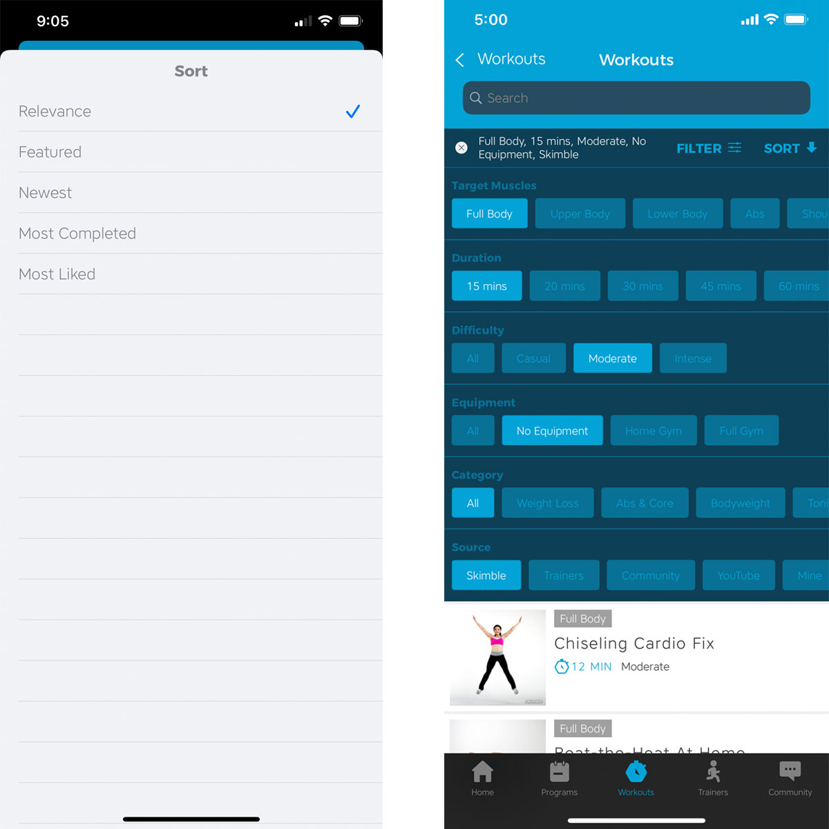 Explore Workout Trainer's Search and Discovery Features