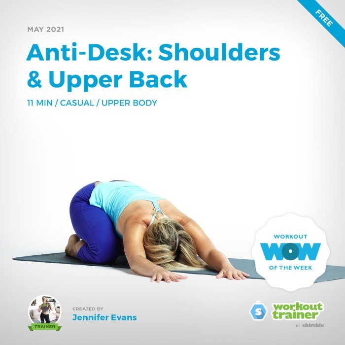 Female yoga instructor winding down in Child's Pose with Side Reaches