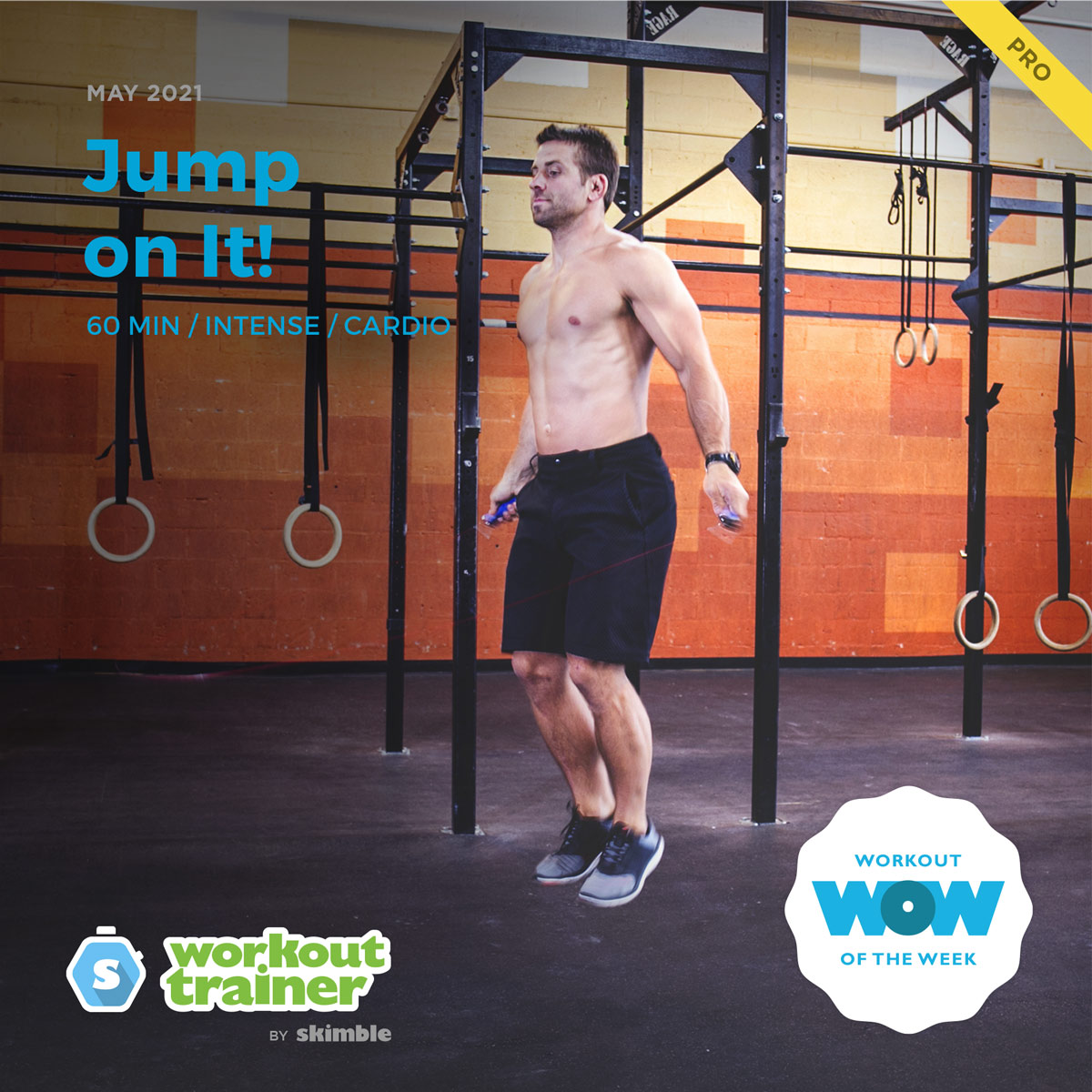 Male CrossFit Instructor doing Double Unders