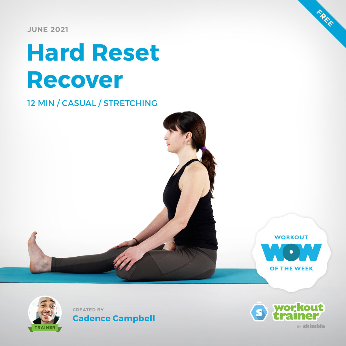 Female Yoga Instructor showing us how to perform deep stretches for our active recovery days