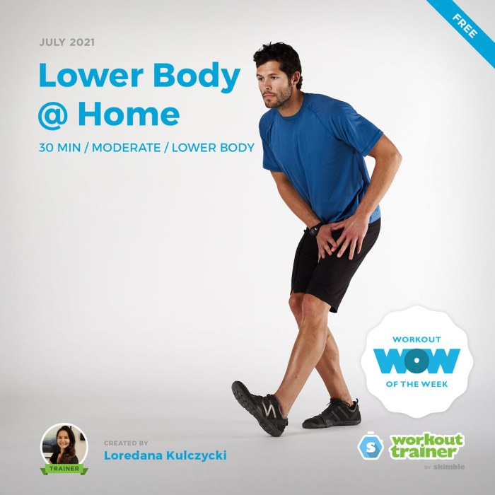 Male Personal Trainer doing hamstring stretches after a lower body workout