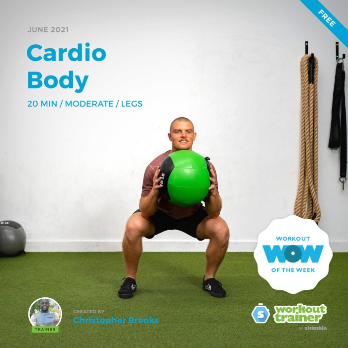 Male Fitness Instructor demonstrating how to do Medicine Ball Side Step Squat to Press