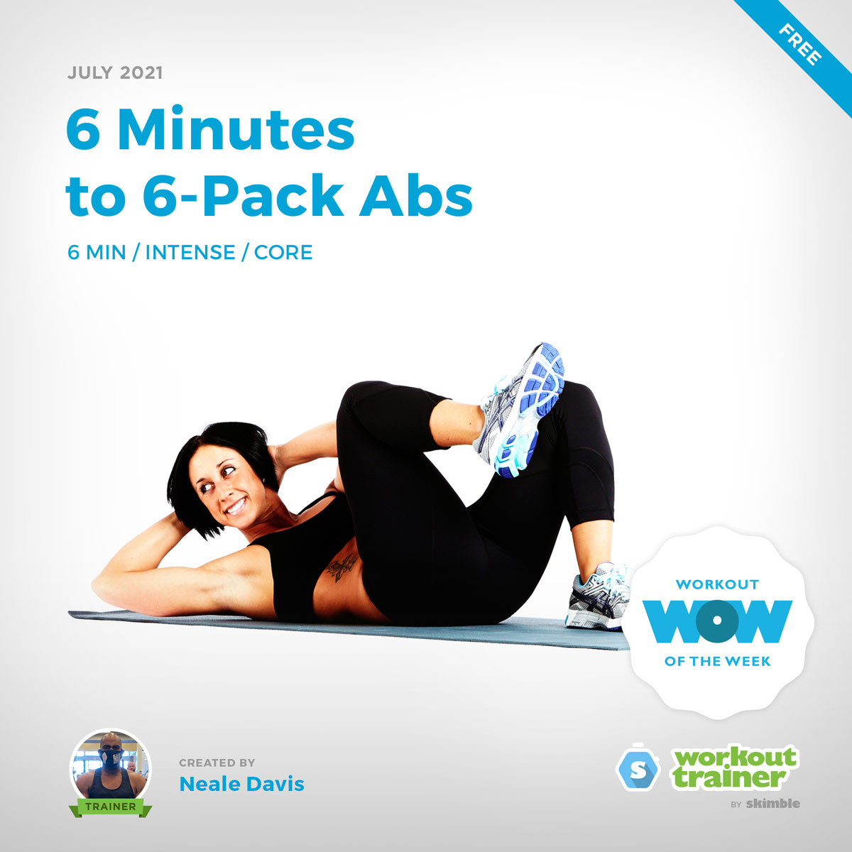 Female Fitness Instructor doing Cross Body Crunches