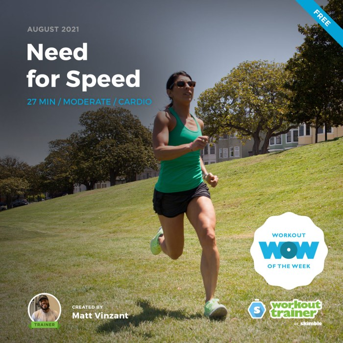 Female Fitness Instructor doing HIIT workout to increase sprint speed