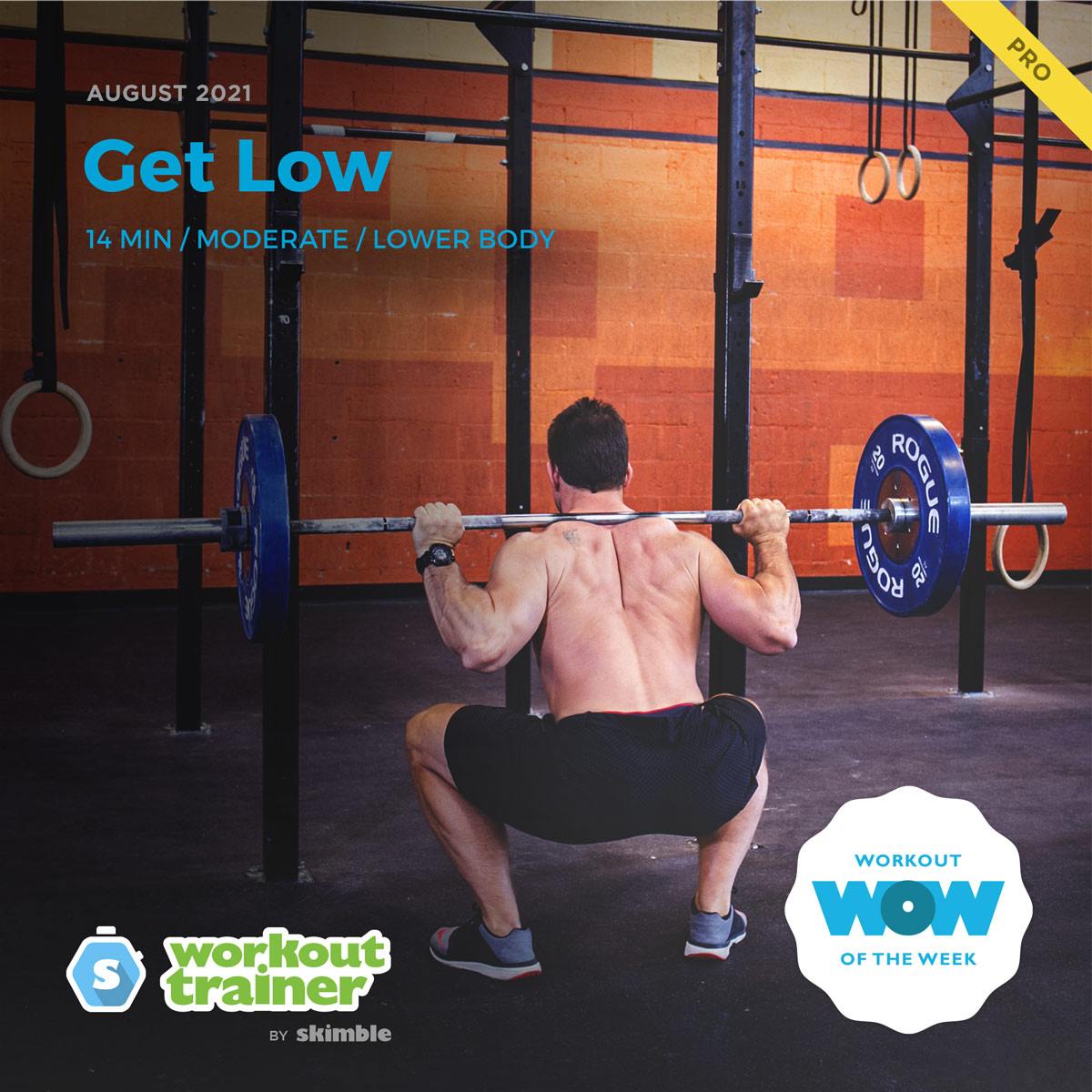 Male CrossFit Trainer doing Barbell Loaded Back Squats