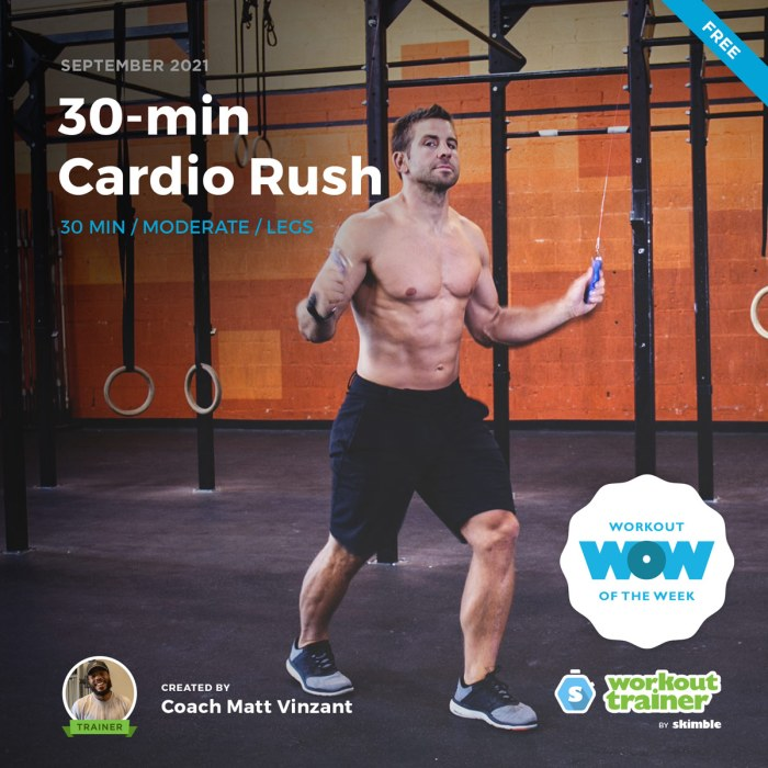 Male CrossFit Trainer doing the Boxer Shuffle with a jump rope