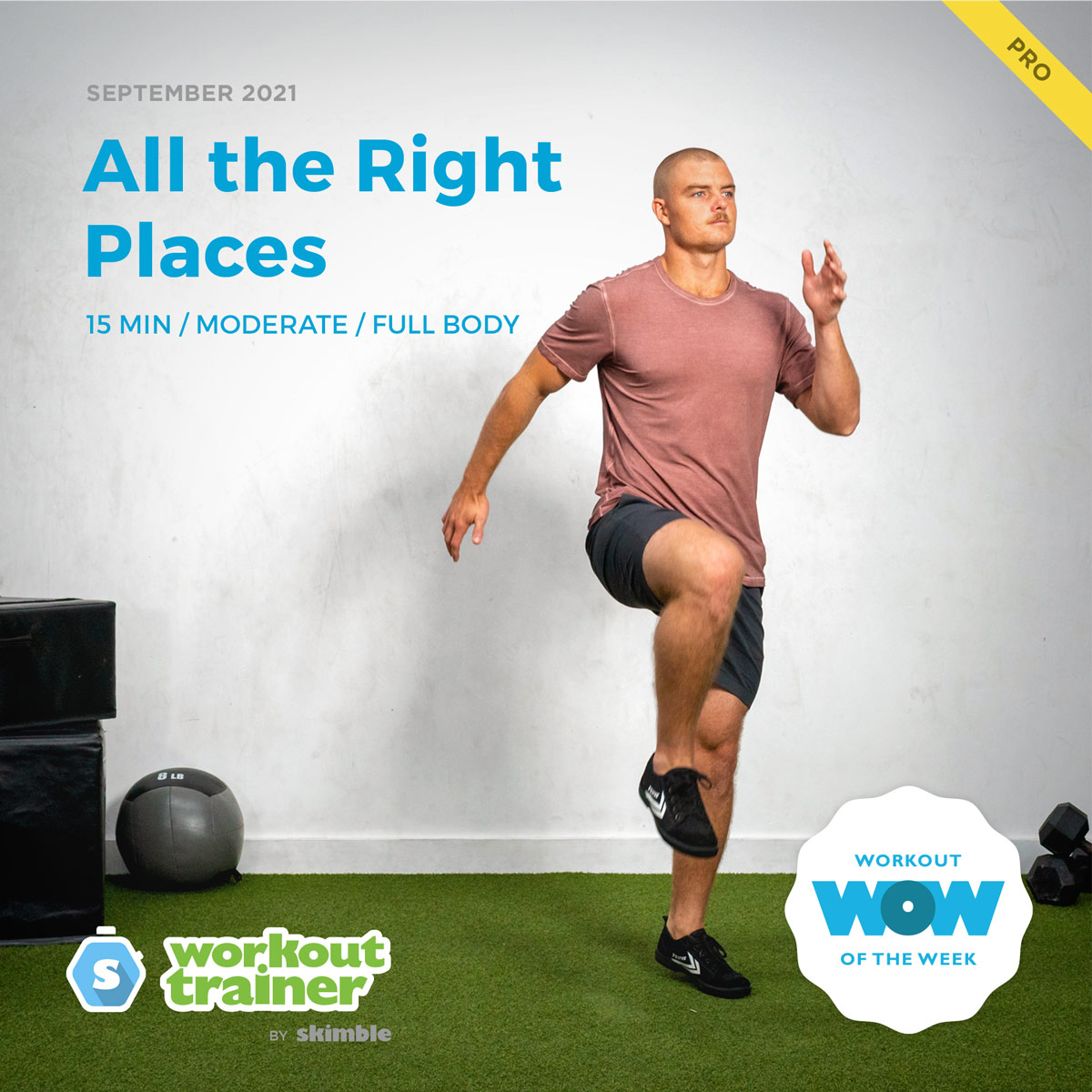 Male Personal Trainer is Skipping in Place