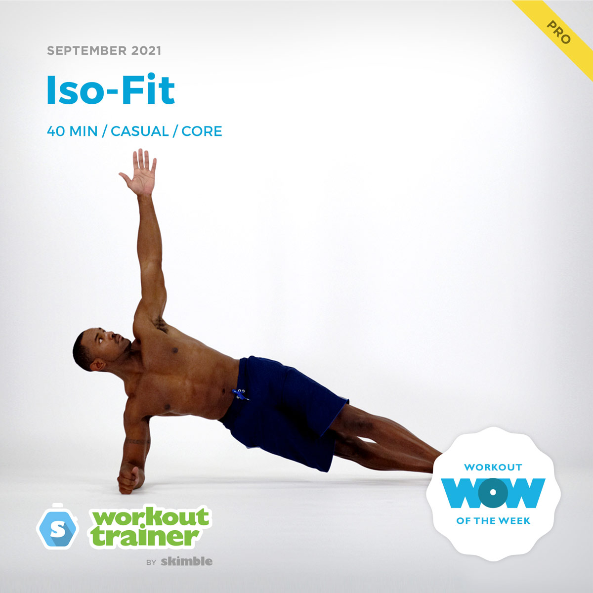 Male Personal Trainer holding a Right Half Side Plank to build core strength
